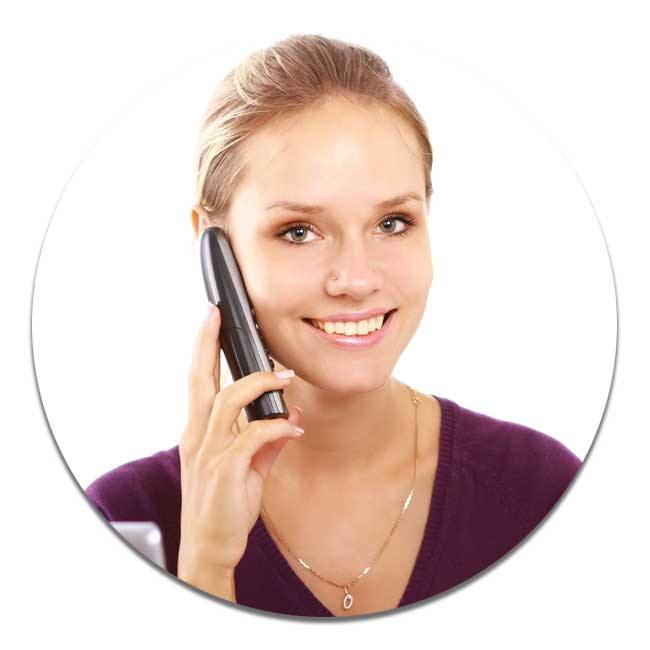 customer service assistant on the phone